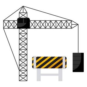 Instalação de sinalização para guindaste