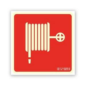Placa de sinalização para hidrante
