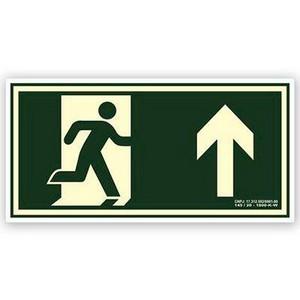 Placa de sinalização rota de fuga em SP
