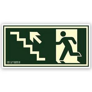 Placa saída de emergência