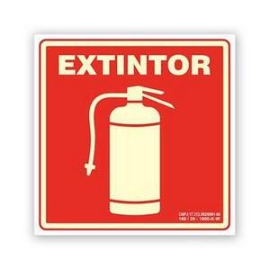 Placas de sinalização de extintores
