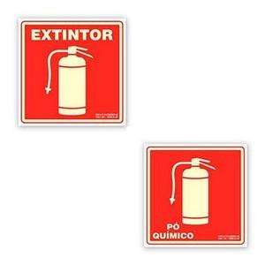 Sinalização de extintores